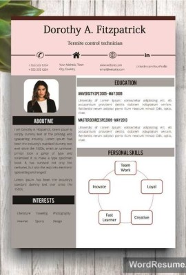 creative cv template with cover letter and references word template doroti