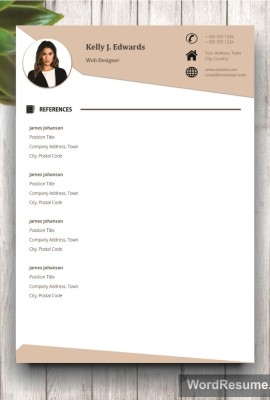 Resume Template References