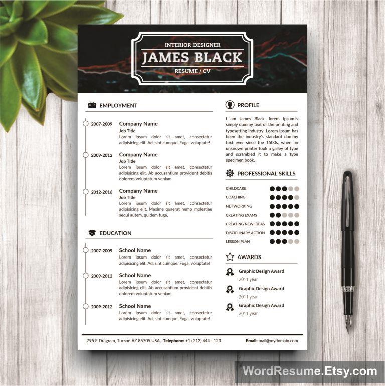Resume Template page 1