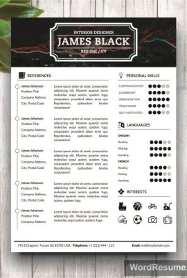 Resume Template page 2