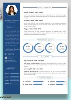 "Business Resume Template With Photo – ""Amanda Jackson"""